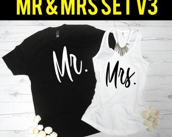 MR & MRS Shirt Set | Mr Mrs Shirts | Mr. and Mrs. | Honeymoon Shirts | Just Married Shirts | Just Married Set | Wedding Gift | Shower