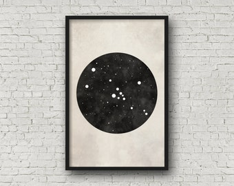 Taurus Constellation Art, Art Print Poster, Wall Art, Taurus Art, Zodiac Constellation, Zodiac Sign, Zodiac Art, Zodiac Print