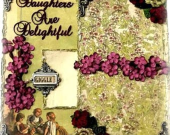 Elite4u Shabby Vintage Look Daughters Premade Page Layout For Scrapbook ALBUM Frame or Wall Art