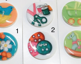 "Wuttons Buttons 34 mm (1 3/8"") 2 Button Pack"