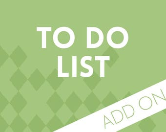 Planner Add-on : To-Do Pages
