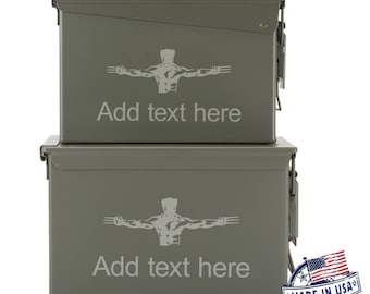 Wolverine XMEN Custom Engraved 30/50 Cal Ammo Can Personalized Dad Gift Cool Guy Gifts Father's Day Gift Grandpa Gift Groomsmen Hunter