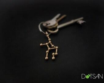 Virgo Constellation Keychain Keyring