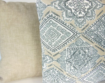 Taupe Gray Tan Outdoor Throw Pillow COVER Ecru Gray Two Decorative Cushion Beach Cottage Pillow Outdoor Patio Couch Pillow Cushion Bedding