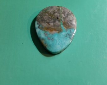 Natural American Handmade Untreated  Gem Boulder  Turquoise Cabochon Cab