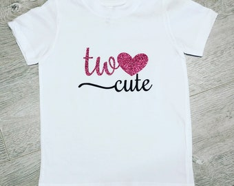 Two Cute Milestone Tshirt with choice of colour writing