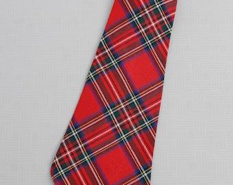 vintage mens plaid neck tie