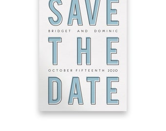Contemporary Wedding Save the Date/Wedding STD/Modern Wedding Save The Dates/Modern Save-The-Date/Modern/Bold/Type/Contemporary/Unique