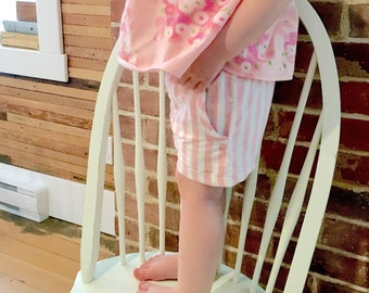 NEW!| Picnic shorts| Pink stripes| Summer| Reclaimed material| Cotton/Linen blend