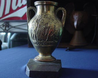 Vintage Brass Bookend~Greek Style Urn~Grecian Urn