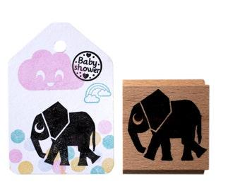 Elephant stamp, elephant ink stamp, elephant rubber stamp, animal stamp, dombo stamp, phant stamp