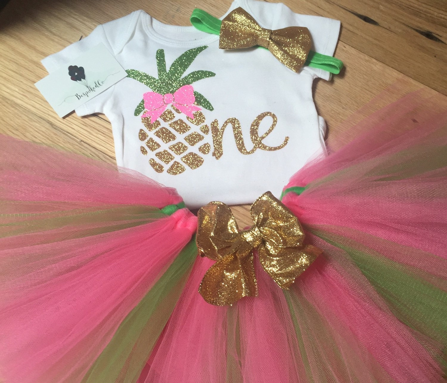 Summer First Birthday Outfit Pineapple 1st Birthday Outfit