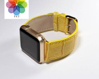 Yellow Apple Watch 38mm - Leather Apple Watch Band 42mm Yellow - Apple Watch Series 3 - Apple Watch Series 2 - Apple iWatch