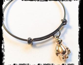 Baymax bangle, baymax bracelet, baymax jewelry, disney inspired, disney jewelry, baymax, big hero 6