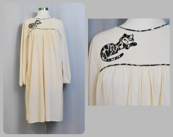 Calico Cat Vanity Fair 60s Nightgown