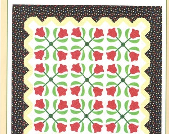 Martingale Publishing - That Patchwork Place - Red Tulips  Quilt Pattern - Designer Nancy Mahoney