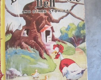 Vintage Book The Ducks of Dingle Dell and Other Stories 1941 McLoughlin Bros Color Illustrations