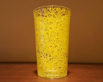 Yellow String glass tumbler by Hazel Atlas