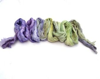 Lavender ombre pastel long silk scarf feminine bohemian clothing gift for women Custom Order