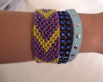 SALE yellow blue purple kids bracelet