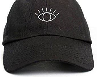 ca79ffc5771 3rd Eye Custom Unstructured Dad Hat Adjustable Baseball Cap- Black