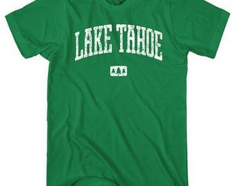 Lake Tahoe T-shirt - Men and Unisex - XS S M L XL 2x 3x 4x - California Tee, Nevada, Ski - 4 Colors