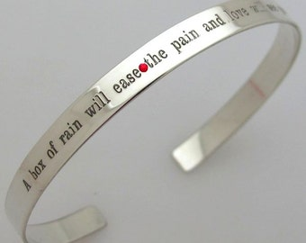 Custom Skinny Bracelet / Personalized Cuff in Silver / Inspirational Quotes Cuff / Personalized Gift / Birthday Gift / Gift for her / Phrase