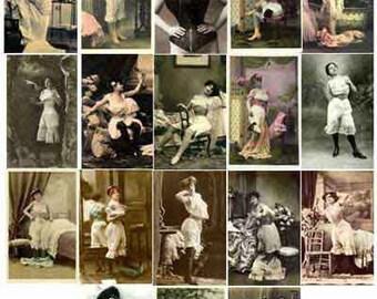 25 VINTAGE RESTORED IMAGES 1905 Corset Fashions