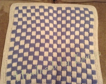 Chequered pram blanket
