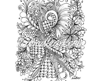 instant digital download - coloring book for adults - zendoodles