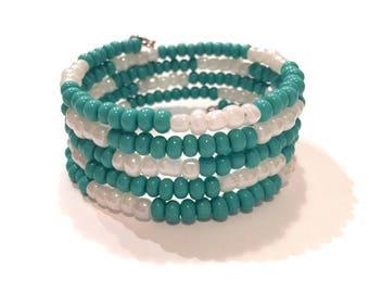 Bracelet memory wire, coil Bracelet, Memory wire bracelet, jewelry, Pearl Bracelet, Bracelet, woman, natural stone jewelry, Jewellery