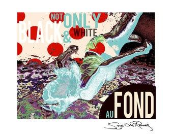 Portrait, Kunstpostkarte, Postkarte, Popart, Design, Suze LaRousse, Mozart, abstrakt, Geschenk, Glückwunsch, Karte, Postkarte, Kunst, Druck
