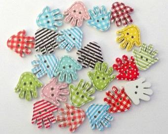 12 Wooden Hands-Little Hands - #SB-00155