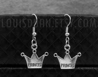 Silver Crown Earrings -Princess Earrings -Gift For Her -With Gift Box