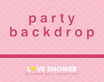 Personalized Party Backdrop - Printable - Custom Theme - Create Your Own Theme - Dessert Table Background -  PDF