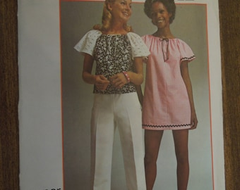 Simplicity 5468, petite or size 6, mini-dress or top, UNCUT sewing pattern, craft supplies