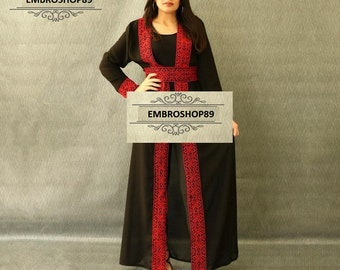 Modern Thobe Palestinian dress abaya 2018 embroidered motarraz ثوب فلسطيني/مطرزات فلسطينية
