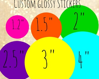 Custom Stickers Etsy - Custom stickers and labels