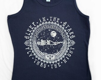 Limited Edition Sleep in the Stars women's organic Tank Top Bird Song Grateful Dead and Company Phish Shakedown St. Lot in S M L XL 2X