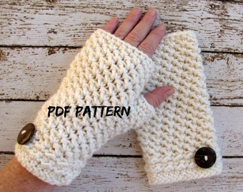 Instant Download Fingerless Glove Crochet Pattern, Womens Crochet Glove Pattern