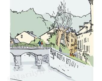 France Dordogne Village fine art print in 2 sizes