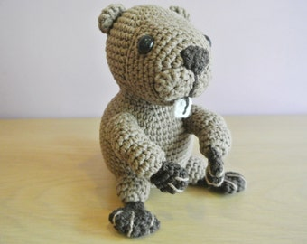 Benny Crochet Beaver Amigurumi - Handmade Crochet Amigurumi Toy Doll - Beaver Crochet - Amigurumi Beaver - Woodland Animal