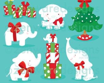 White Elephant Christmas Clipart