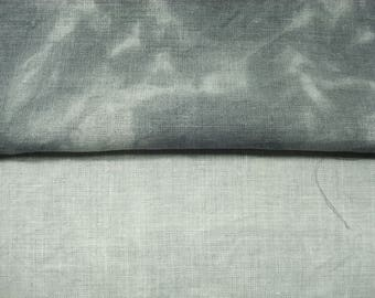 Grey 30 count Hand Dyed Cross Stitch Fabric, Evenweave Linen Fabric for Crewel Embroidery 27X18 Shale Pale /Medium