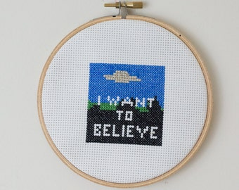 X-Files cross stitch PATTERN