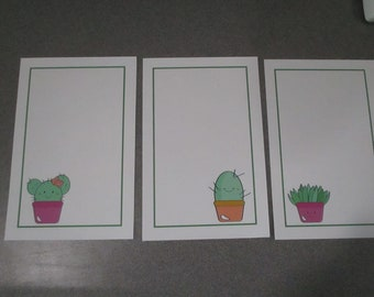 Kawaii Succulents Stationery Set