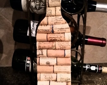 Wine Cork in the shape of a Wine Bottle