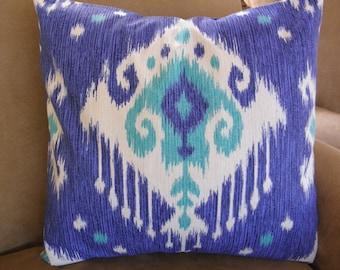Big Sale !!! This beautiful ikat print Blue,Gray,Purple Pillow Cover 20x20