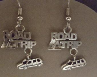 Road Trip Earrings Pewter
