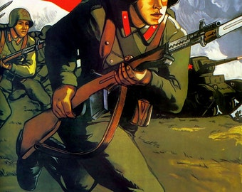 World War Two Soviet Union Red Army Poster A3 Print